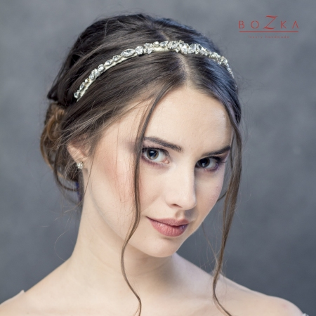 Shiny bridal headband with...