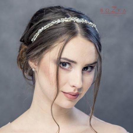 Shiny bridal headband with...
