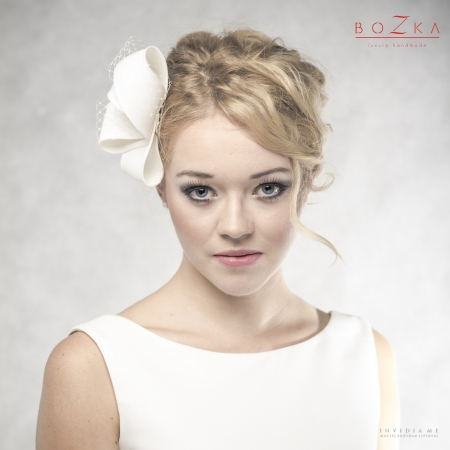 Silk, bridal hairpiece with...