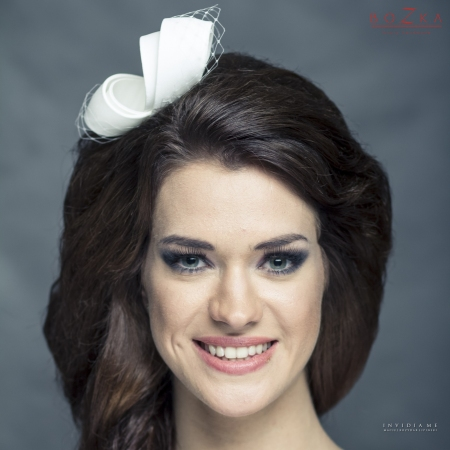 Silk fascinator with...