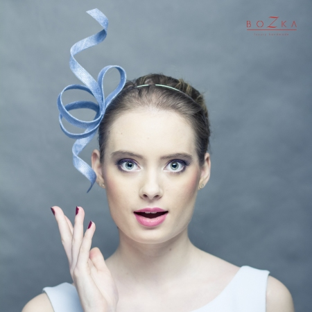 Blue twisted fascinator