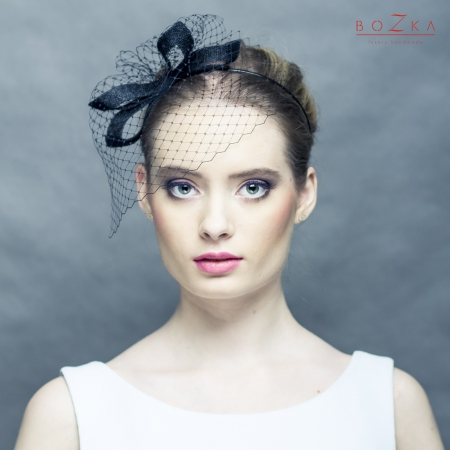 Black headband with bow and...