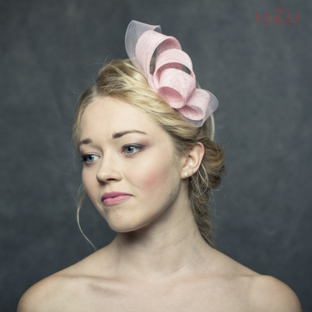 Pink fascinator with crinoline
