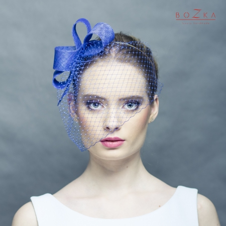 Cobalt fascinator bow