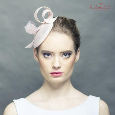 Blush pink small hat