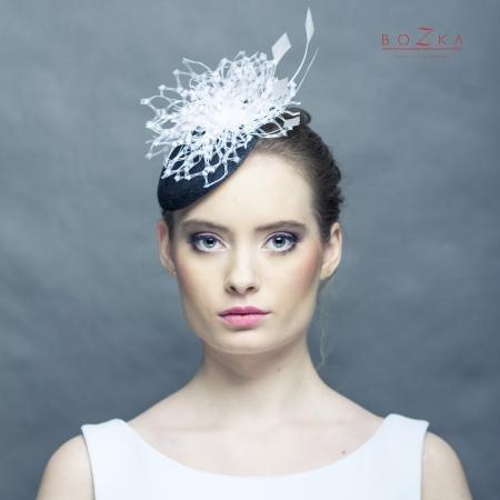 Black and white mini hat