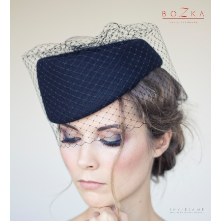 Black percher hat with...