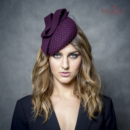 Aubergine colour hat