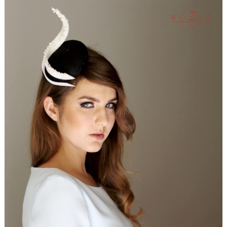 Black fascinator with...