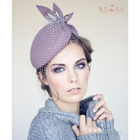 Coctail beret in dirty pink...
