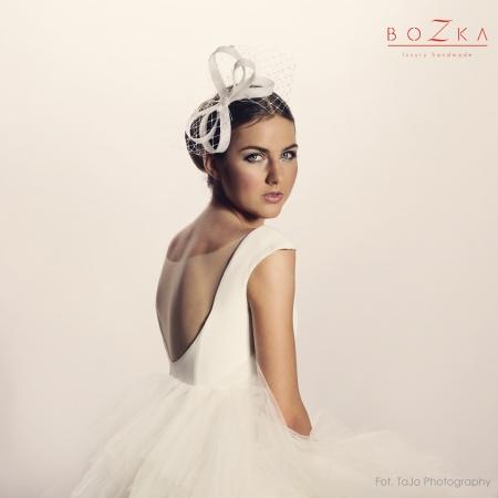 Wedding bow headpiece with...