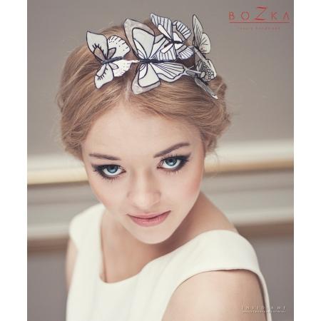 Bridal headband with...