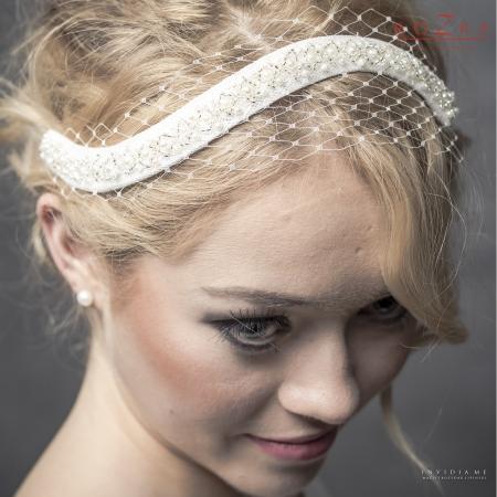 Delicate, jeweled bridal...