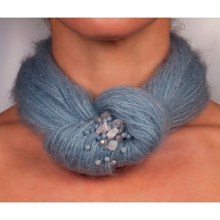 włóczkowy naszynik- niebieski