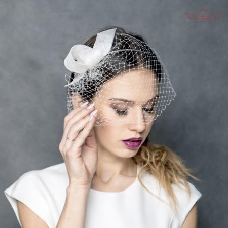 Modern bridal fascinator...