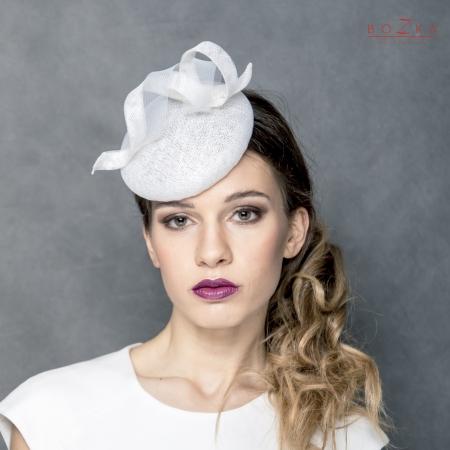 Bridal modern hat.