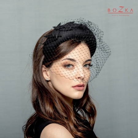 Black padded headband crown...
