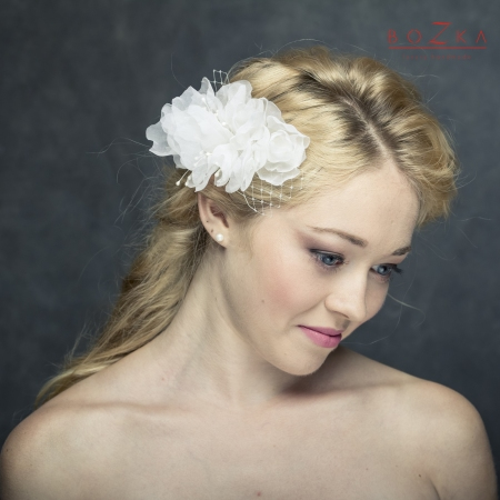 Bridal floral hairpiece...