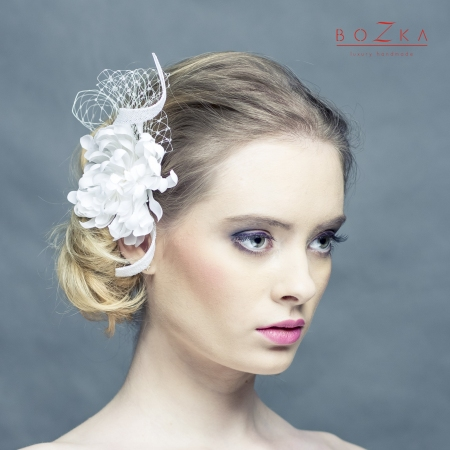 Bridal hair flower with...