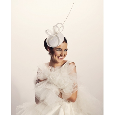 Minimalist wedding hat with...