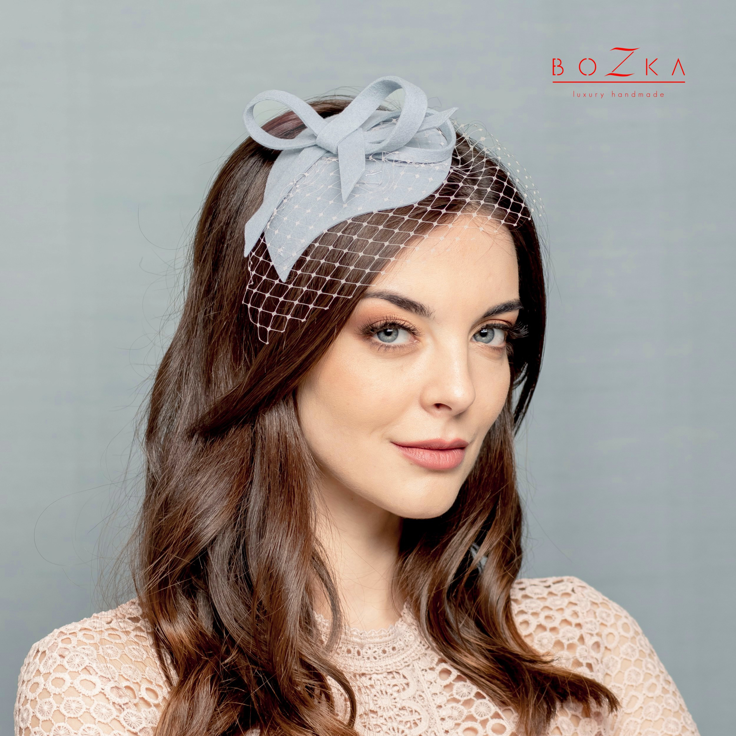 Pigeon blue fascinator